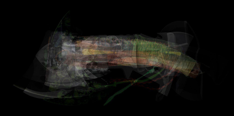 ultraimage - survival axe, 2018, Fineartprint, 100 x 200 cm und 40 x 80 cm, je Ed. 3 + 1 AP